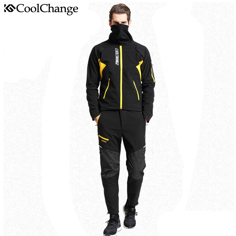 CoolChange Long Sleeve Cycling Jersey Suit Male Autumn And Winter  Outdoor Bike Coat Riding Pants Mountain Bike Equipment Set dichski outdoor bike coat quick dry mtb riding pants mountain 2017 long sleeve cycling sets suit male autumn winter jersey h233