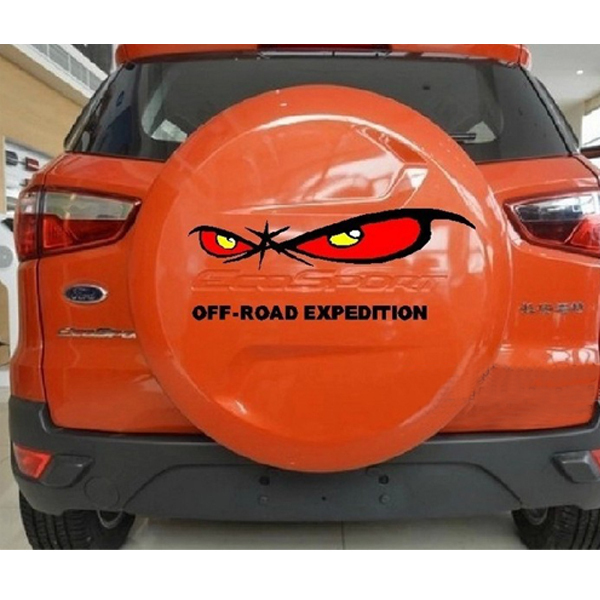 Car Styling Stickers Eyes Cool Sticker for Ford Ecosport Tail Car Accessories DIY Car Covers Decal 3D Fiber New 2014