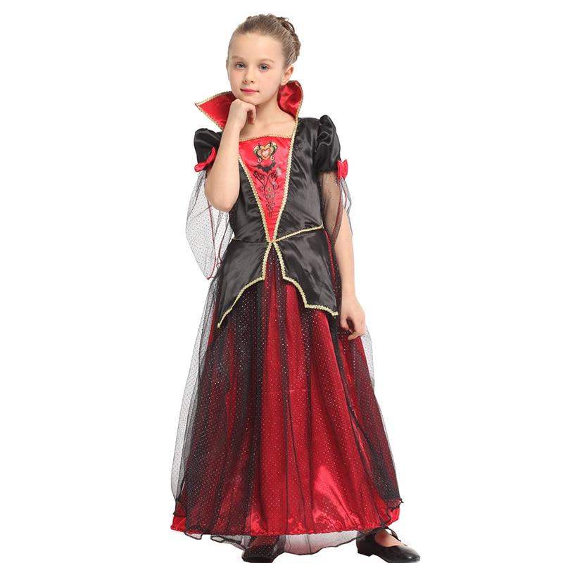 HUIHONSHE Nuovo Anime Vampire Vestito Per I Bambini Costumi di Halloween Costumi di Carnevale Per I Bambini Del Partito di Cosplay Delle Ragazze Strega