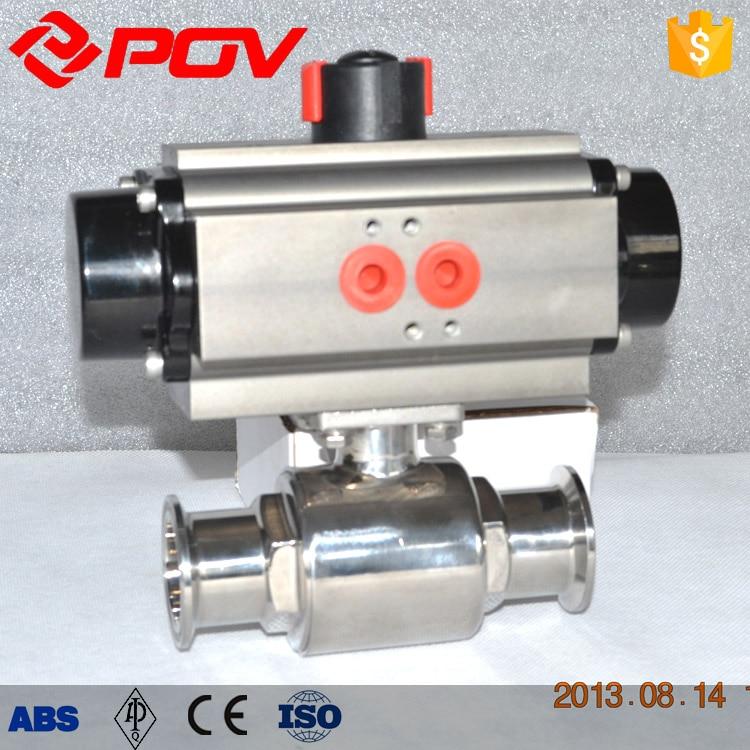 Sanitary food grade valve 2 way pneumatic actuator ball valve 100g vitamin e food grade usa imported