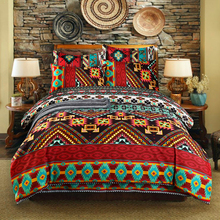 WAZIR edredon Bohemian Ethnic Style Bedding Set Twin Full Queen King Duvet Cover Pillowcase bed sheet bedroom decor Home Textile