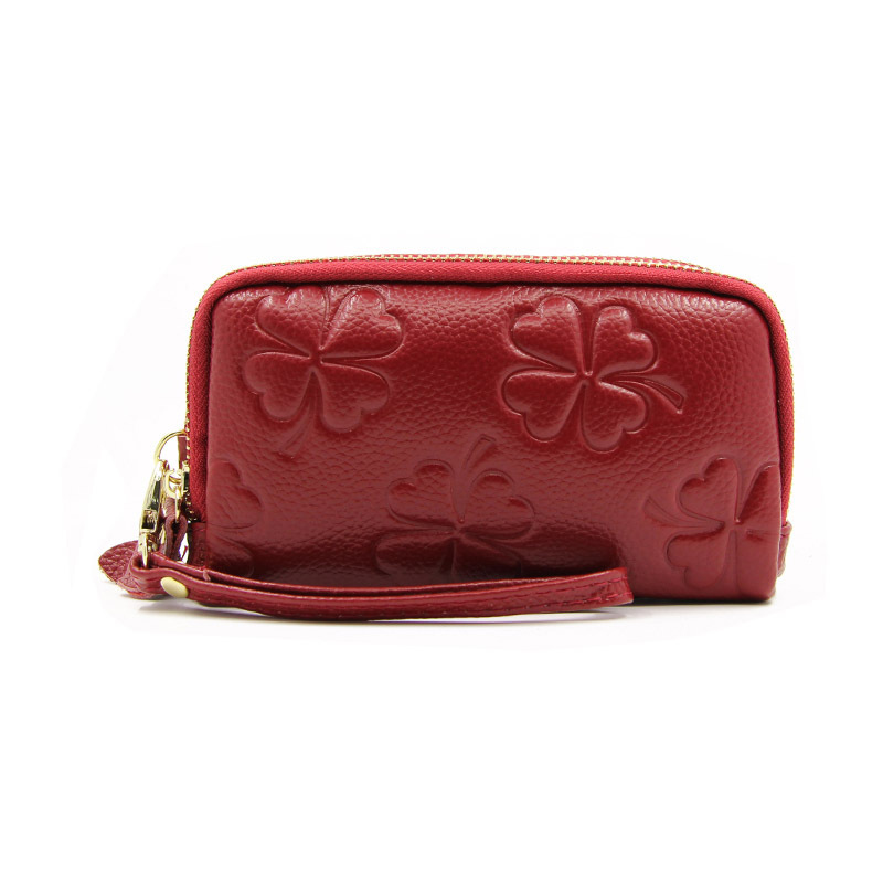 New Fashion Flower 100% Genuine Leather Women Long Wallets High Quality Female Luxury Brand Clutch Girl Ladies Gift Cash Purse