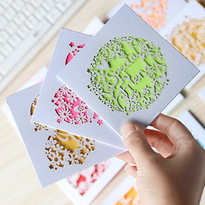 50pc lot hollow wish small greeting card mini holiday card lovely creative fresh