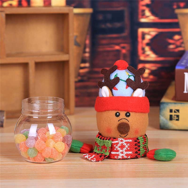 2018 Hot Child Kids Christmas Candy Jar Storage Bottle Santa Bag Sweet Christmas Box Gif free shipping #2n1 (3)