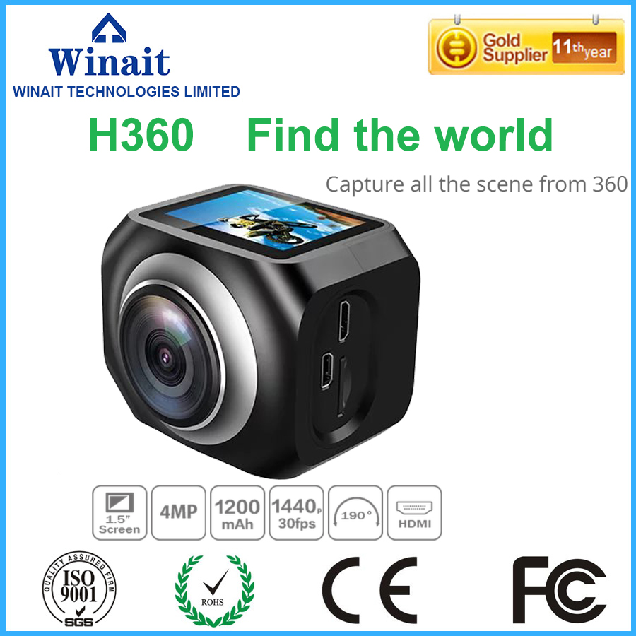 цены  Winait H360 action camera  220 degree super wide lens  high speed USB 2.0 1.5LTPS mini 5mp Pixels digital video camera Brazil