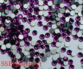 1440 pçs/saco SS10 2.7-2.8mm Roxo Ametista Não HotFix Natator Pedrinhas, Vidro Glitter Glue-on Solto Cristais Pedras Da Arte do prego
