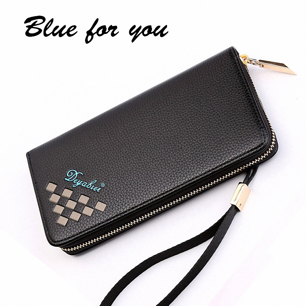 2016 New Wallet Mens Long Zipper Coin Purse PU Leather multi-purpose wallet with a large capacity Male Clutch Carteira Phone Bag от Aliexpress INT
