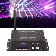 Lixada LCD DMX 512 denetleyici kablosuz verici alıcı 2in1 tekrarlayıcı DMX512 kablosuz alıcı verici ışık kontrolörü