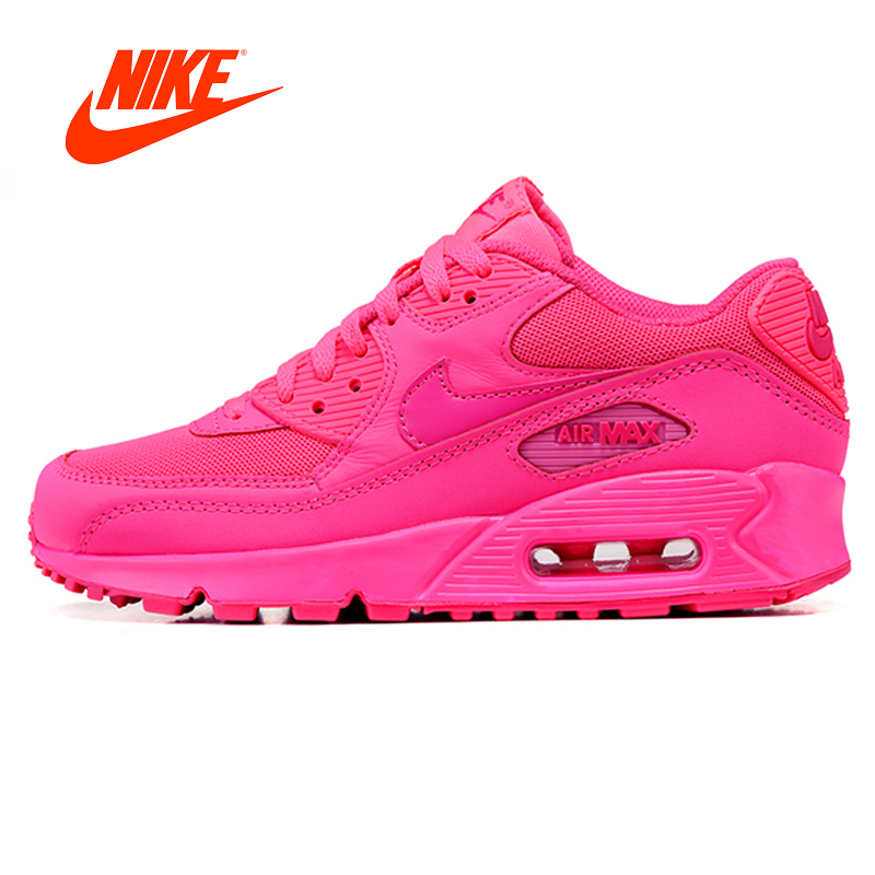 Original New Arrival Authentic Nike Air Max 90 Women's Breathable Running Shoes Sport Outdoor Sneakers Good Quality 345017-601 цена