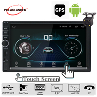 Audio Player Autoradio Stereo Car Radio Car Multimedia Player 7'' Android 2din GPS Navigation Bluetooth USB SD Touch screen