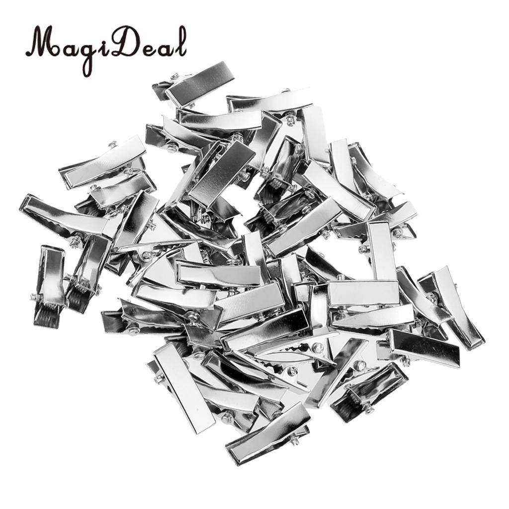 MagiDeal High Quality 50Pcs/Lot Mini Alloy Hairpin For Dolls DIY Making Princess Headwear Hair Clip Girls Children Gifts Acce