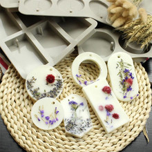 6 Holes Silicone Soap Molds DIY Soy Candles Aroma Wax Tablets Mold Handmade Dried Flowers