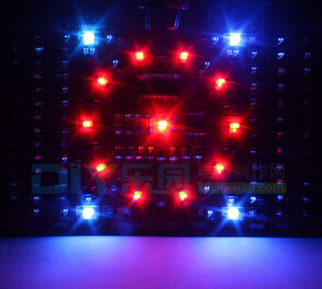 DIY Running water light suite SMT components welding plate red LED