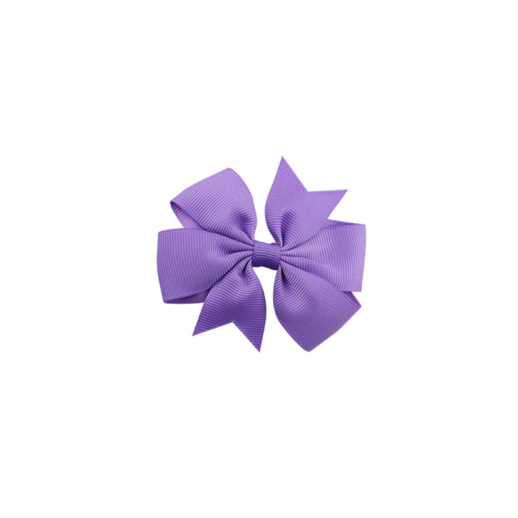 40 цветов сплошная корсажная лента банты заколки шпилька девушка бант для волос, бутик заколки для волос аксессуары для волос - Color: a05 Dark Purple