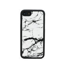 fFREE CUSTOM INITIALS phone bumper case for Iphone X 7 8 plus Real Marble cow leather mobile phone accessories dropship service