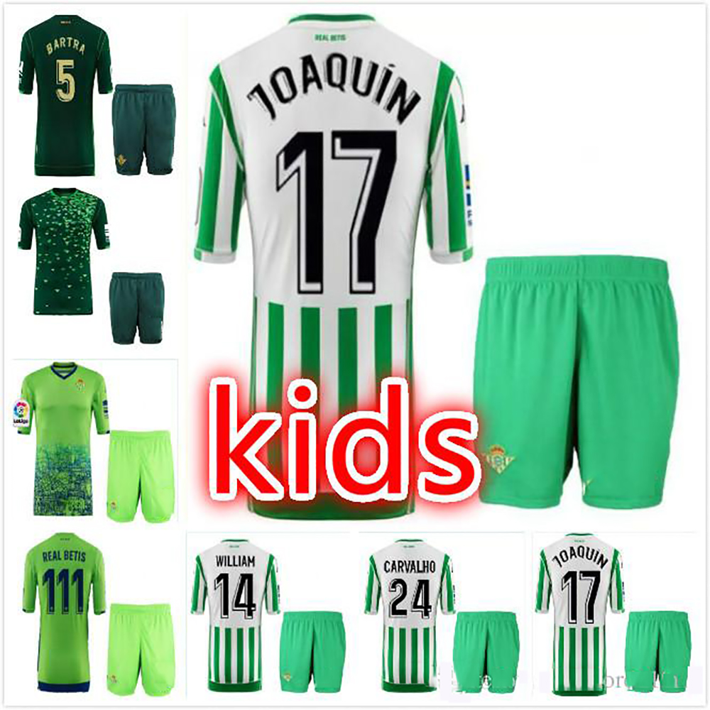 2018 2019 real betis kids shirts 18 19 3rd away home boys child T-shirts Fast shipping(China)