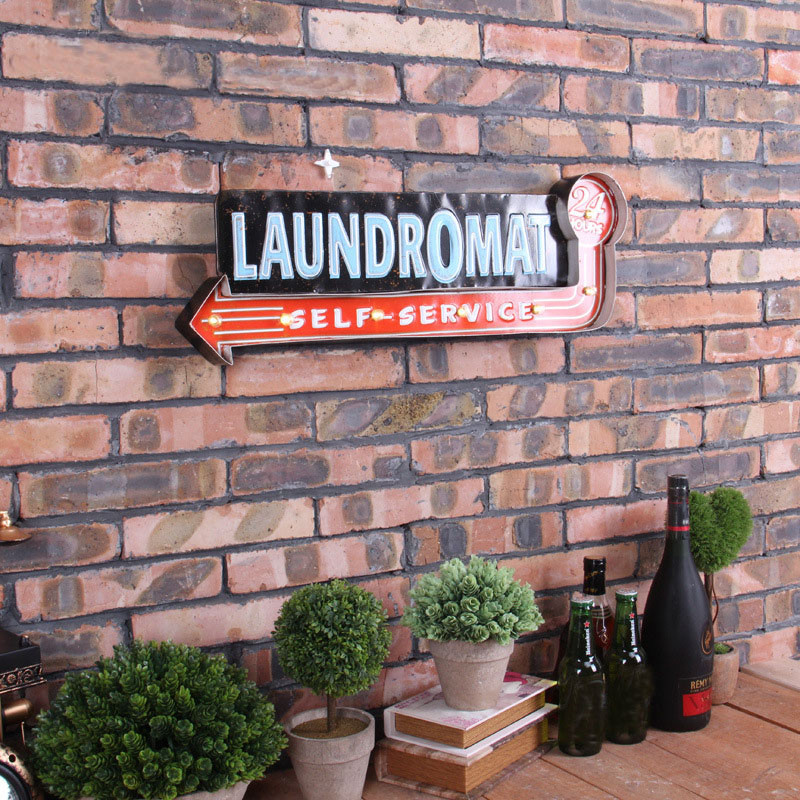 Led Sign Home Decor: Hot Selling Vintage LED Neon Sign Creative Metal AD Signs