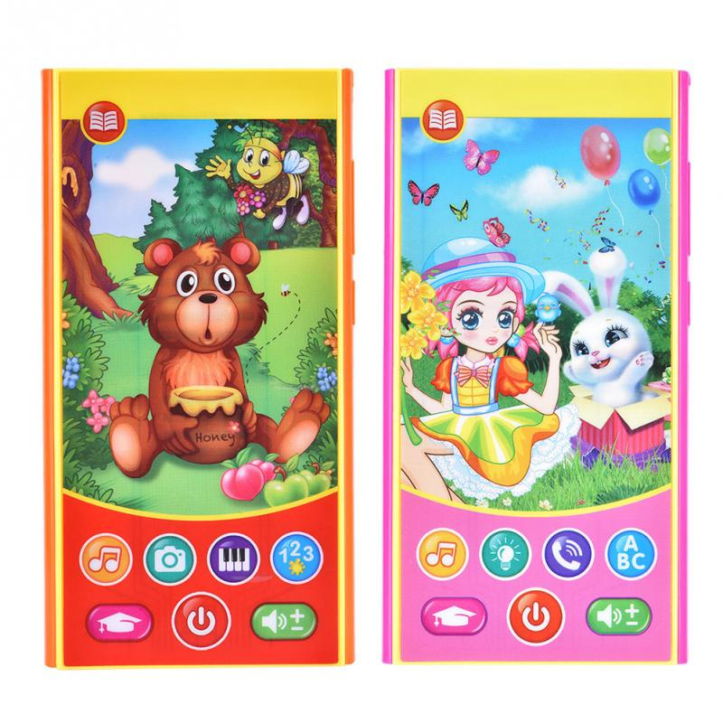New Baby Phone Toy Simulation Music Phone Touch Screen Toys Children Electronic English Learning Educational Toy