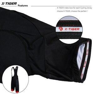 Image 5 - X TIGER Whole Black Bicycle Bib Shorts Men Outdoor Wear Bike Cycling 5D Coolmax Gel Padded Riding Bib Shorts Cycling Bib Shorts