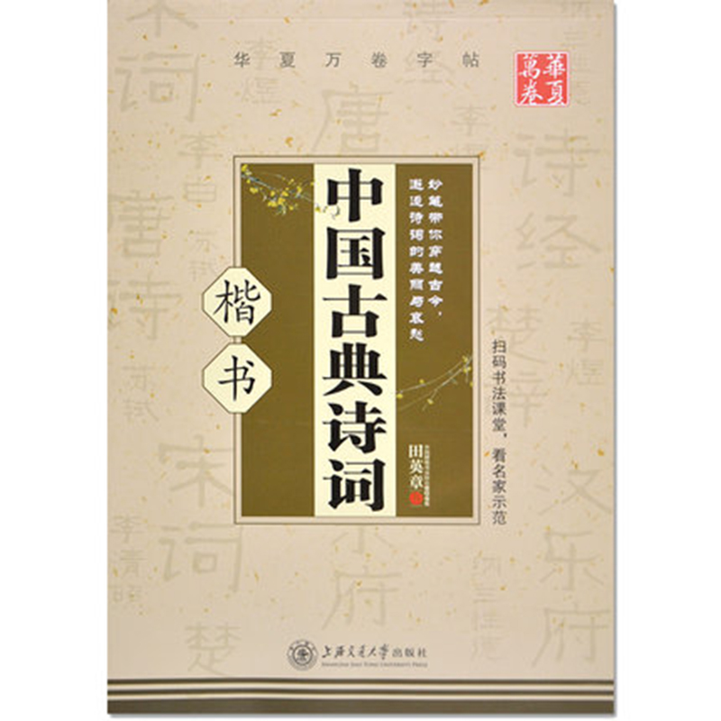 Chinese Calligraphy Copybook Pen Pencil Practice Book Pin Yin Pinyin Chinese Characters Learning Book  Classical Poetry Books