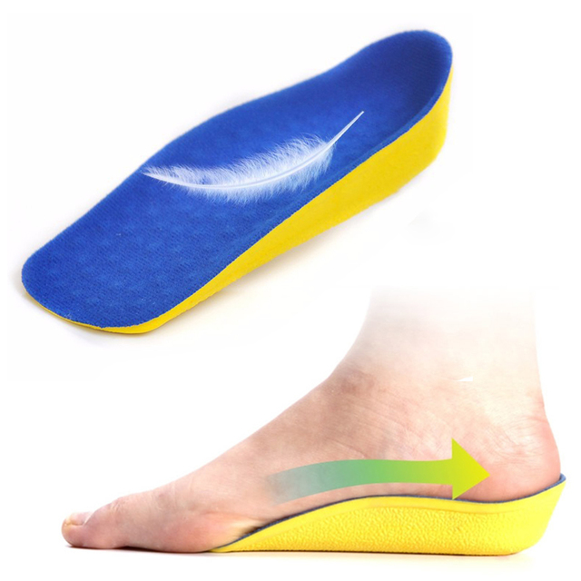 1 Pair Secret Height Increase 2.5cm Heel Lift Half Insoles In