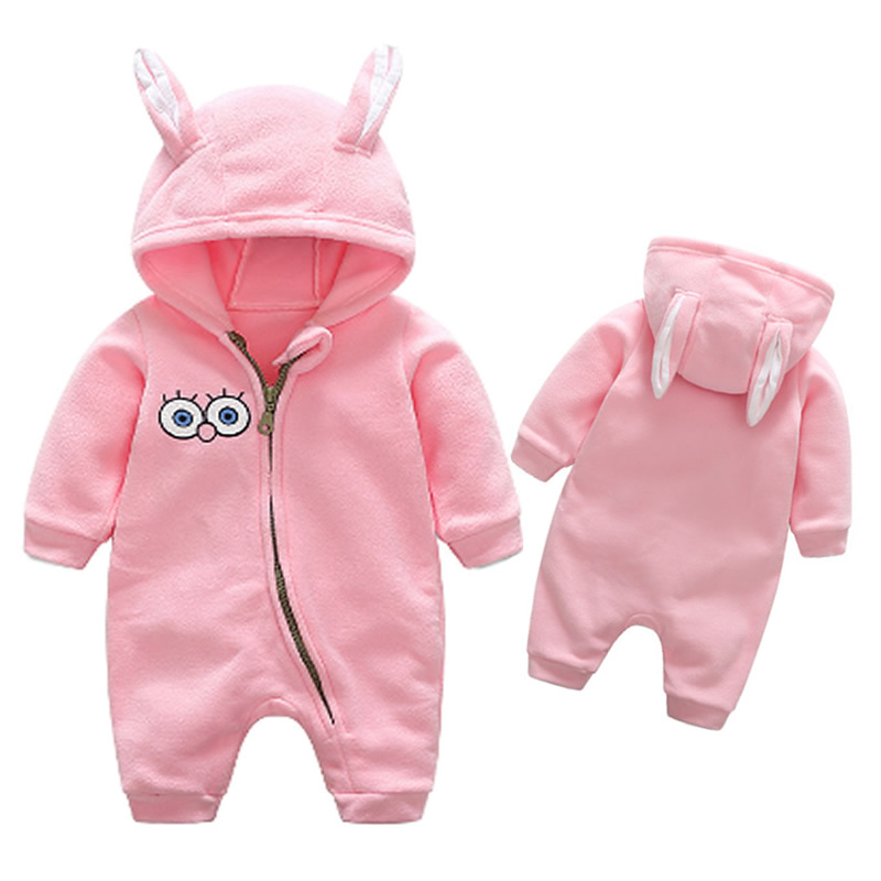 newborn baby girls clothes jumpsuits hooded fleece baby. Black Bedroom Furniture Sets. Home Design Ideas