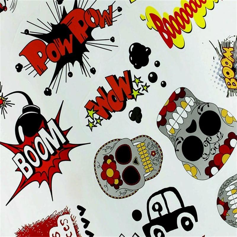 2018 HOT SALE 10pc 11.8 x8.2 Cartoon Graffiti Car Sticker Bomb Wrap Sheet Decal Sticker car sticker best price Vicky