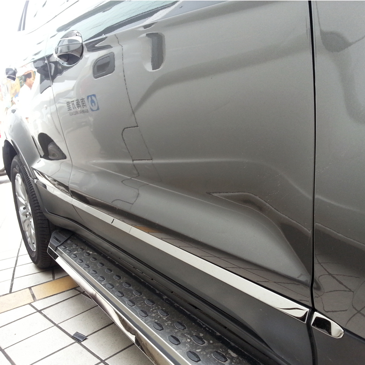 ABS Chrome Side Molding cover trim garnish body kits for 2013 2014 2015 Ford Ecosport Accessories car sticker  high quality abs chrome decoration interior garnish molding kit 17pcs for hyundai 2013 2016 santafe make in korea accessories