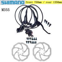 SHIMANO MTB Bike Brake Hydraulic BR BL M355 with the rotor Mountain Bicycle Disc Brake Left & Right Lever set bike accessories