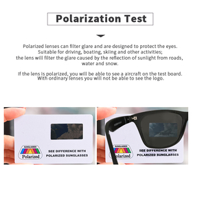 Image 5 - Мужские спортивные солнцезащитные очки с квадратной оправой, поляризационные затемненные цвета, уличные водительские фотохромные солнцезащитные очки с коробкой, очки