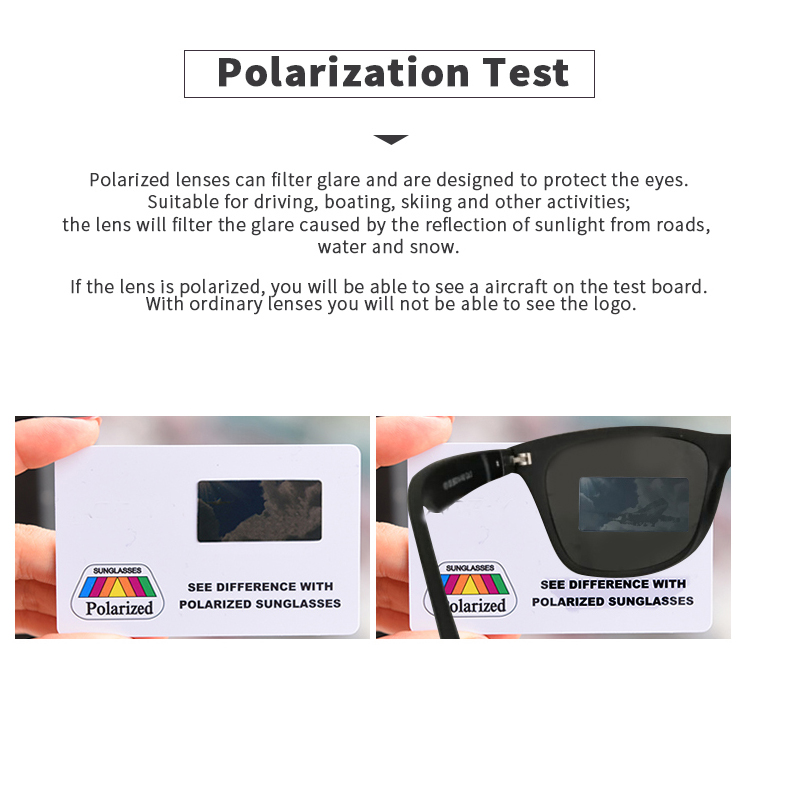 Image 5 - Fashion Brand Designer Polarized Sunglasses Men Women Driving Square Frame Sun Glasses Male Goggle Shades Coating Mirror Female-in Driver Goggles from Automobiles & Motorcycles