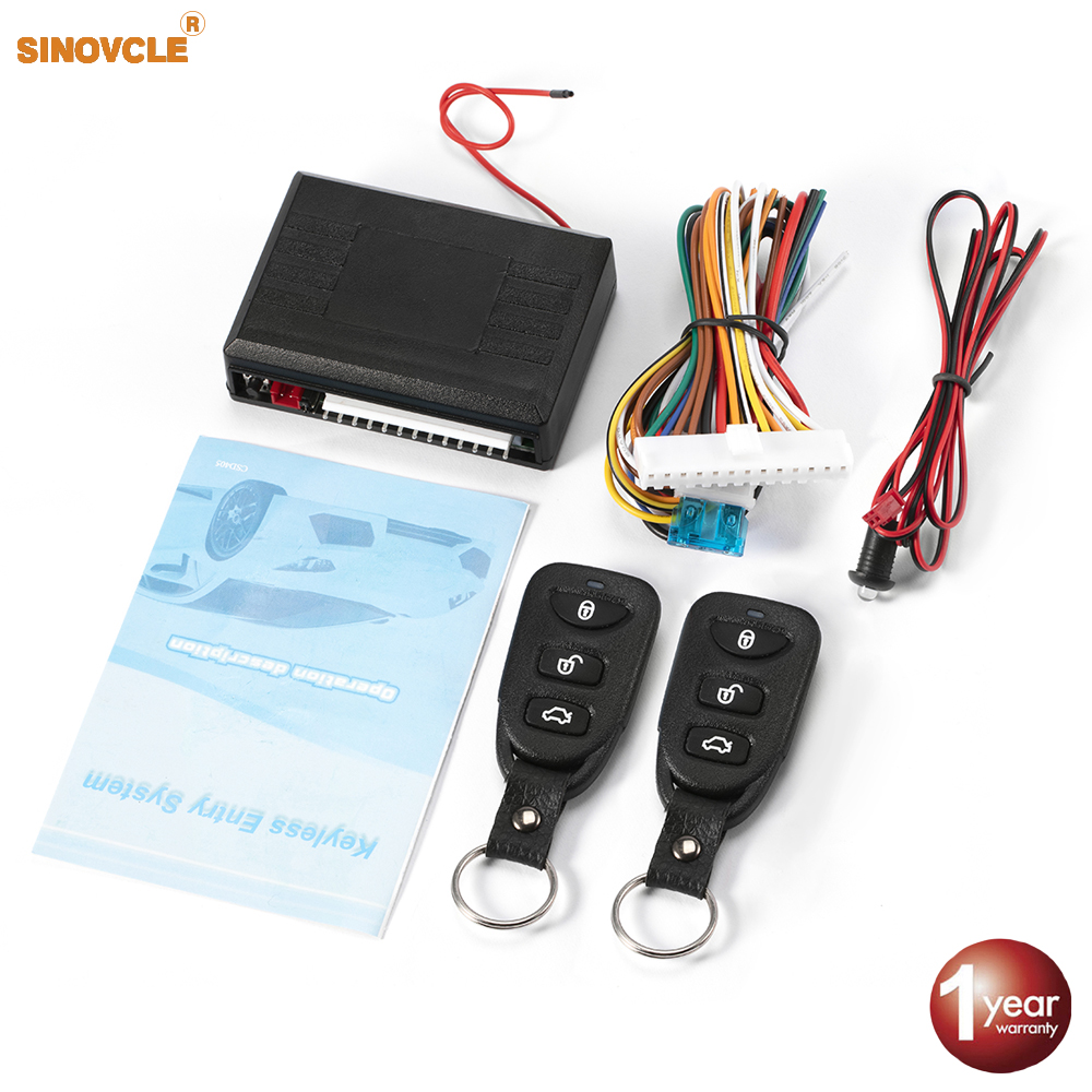 Car Remote Central Door Lock Keyless System Remote Control Car Alarm Systems Central Locking withAuto Remote Central Kit 1