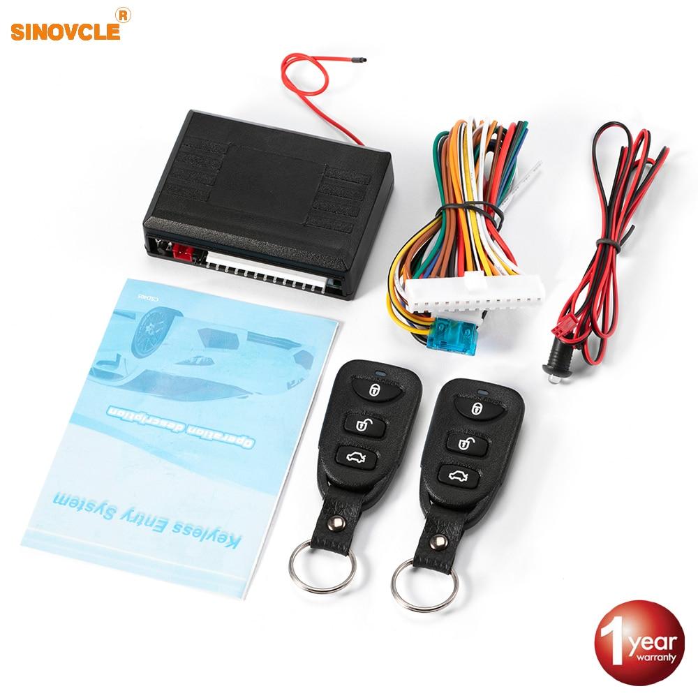 12v Set Door Lock Key Less Entry Central Kit System Auto Car Remote Control Box