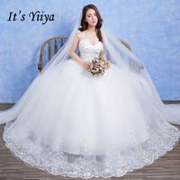 Free Shipping Vestidos De Novia Lace White O Neck Princess Wedding Dresses Bridal Frocks Custom Made