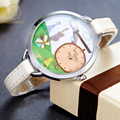 Fashion Clay Women Cute 3D Quartz Watches Mini World Designer Cartoon Watch Clock Girls Leather Casual Waterproof Wristwatch 871