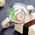 Moda Mujeres Lindo 3D Relojes de Cuarzo Mini Mundo De Diseño de Dibujos Animados de Arcilla Reloj Muchachas Reloj de Cuero Casual Impermeable Reloj de Pulsera 871