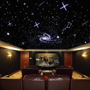 Image 5 - 32W RGBW LED Optic Fiber Lights Kit Optical Fiber Kit 0.75mm*150pcs+1mm*50pcs for starry sky ceiling lights+28Key remote