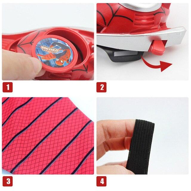Lanzador de guantes de 5 estilos figura de acción Spiderman Batman juguete lanzador niños juguete de rompecabezas de dibujos animados