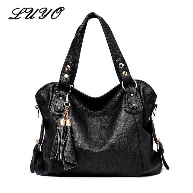 2018 Fashion Tassel Genuine Women Leather Handbags Women s Shoulder Bag  Female Designer Big Handbags High Quality Handbag Lady 8873628d440a1