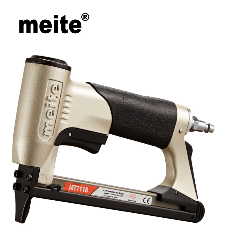 Meite MT7116 22 Gauga Crown 9.0mm Fine Wire Stapler Tool Gun 71 Series Furniture Pneumatic Nailer Gun Jun.14 Update Tool