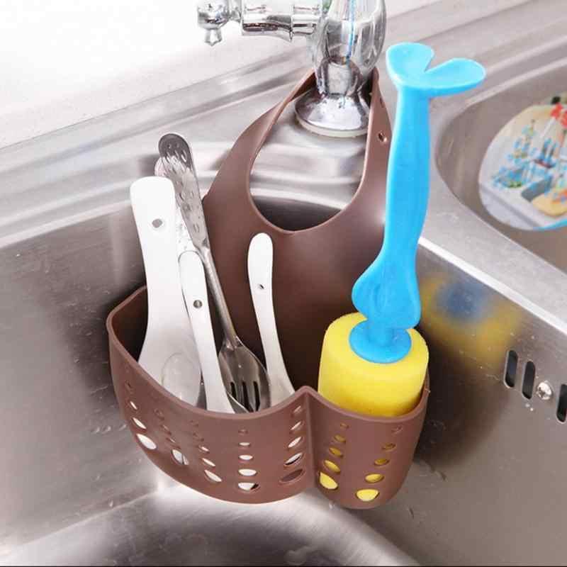 Esponja de Cozinha criativa Colher Ralo Da Pia Cesta De Armazenamento Titular Caixa de Sabão de Banho Pendurado Organizador Multi-buraco Ferramentas De Ventilação