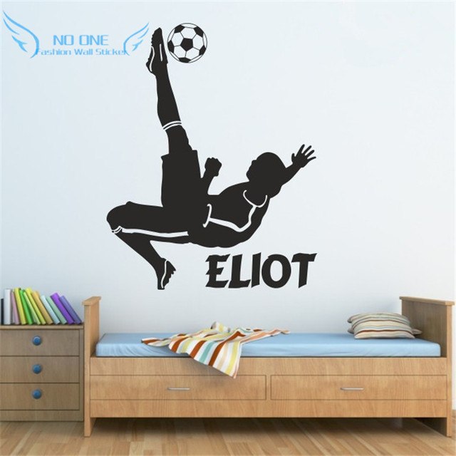 FOOTBALL Wall Stickers For Kidu0027s Bedroom Boys Footballer Sticker  Personalised Name Vinyl Wall Decals Wall Stickers Part 5