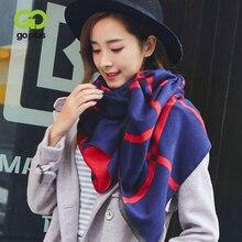 GOPLUS 2019 Winter Striped Scarf Women Fashion Soft Tassal Luxury Thick Warm Shawl Vintage Designer Long Scarves Female Bandanna