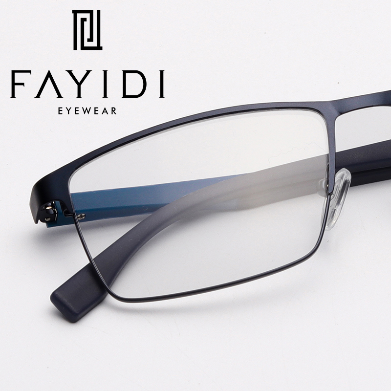 7726c00040b Metal Male Eye Glasses Frame Prescription Clear Optical Myopia Computer Spectacle  Frames For Men  HQ07 28-in Eyewear Frames from Apparel Accessories on ...