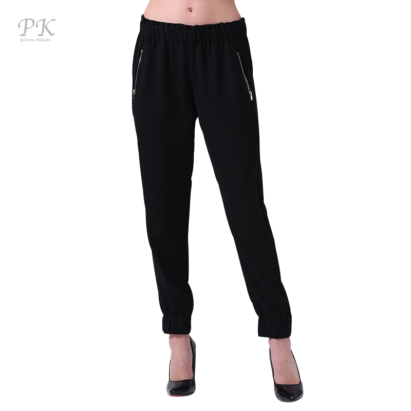 PK pantalones elásticos negros verano 2018 lápiz capris pantalón - Ropa de mujer