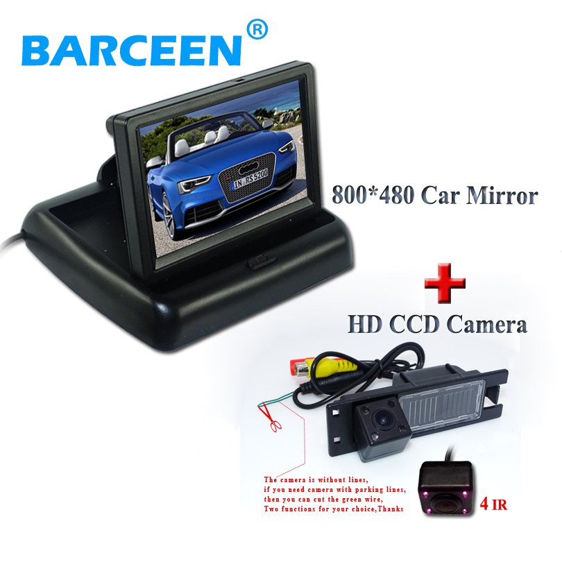 цена на 800*480 hd car rear-view monitor+170 angle car reverse-rear camera with IR light for OPEL Astra H/Meriva A/Zafira B,FIAT Grande