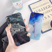 Art Abstract Mountain Road Smooth Soft IMD Phone Cases Cover For iphone 8 Plus 6 6S 7 X Glisten Marble Bag Capa Funda