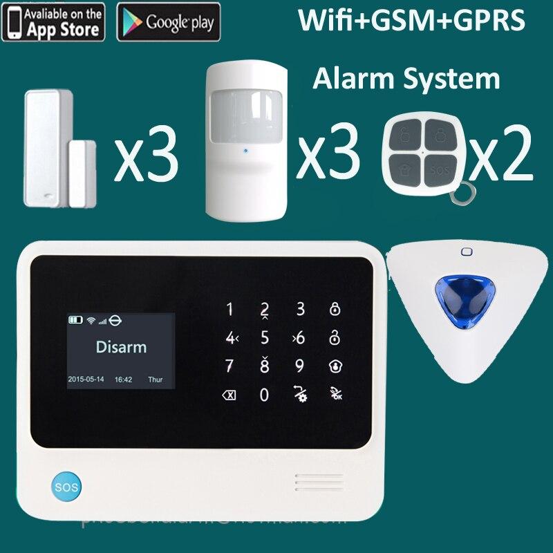 2016 internet wifi network security system siren alarm. Black Bedroom Furniture Sets. Home Design Ideas