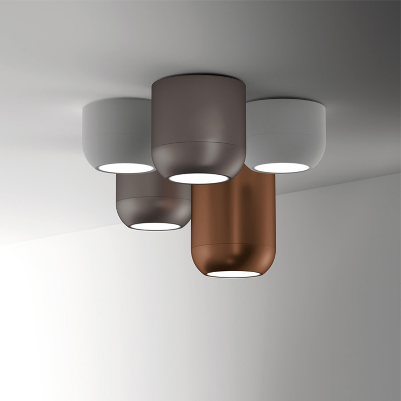 Creative Nordic LED Ceiling Light Metal Cylinder Pipe Ceiling Lamp Surface Mounted/Suspension Modern Ceiling Lighting Fixture