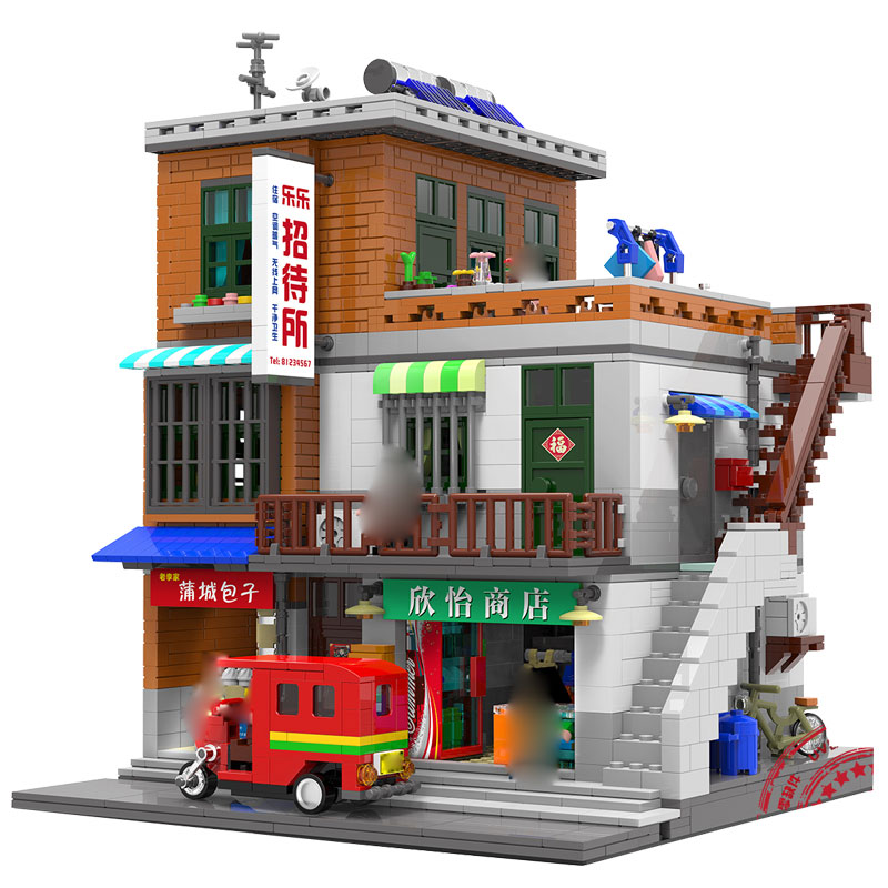 XingBao 01013 2706pcs Genuine Creative MOC City Series The Urban Village Set Building Blocks Bricks Educational Toys Model Gift xingbao 01001 creative chinese style the chinese silk and satin store 2787pcs set educational building blocks bricks toys model